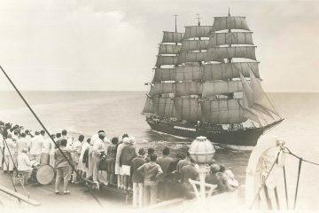 Die PEKING unter Segeln auf dem Atlantik, 1920er Jahre (Foto: Archiv Laeisz-Reederei)